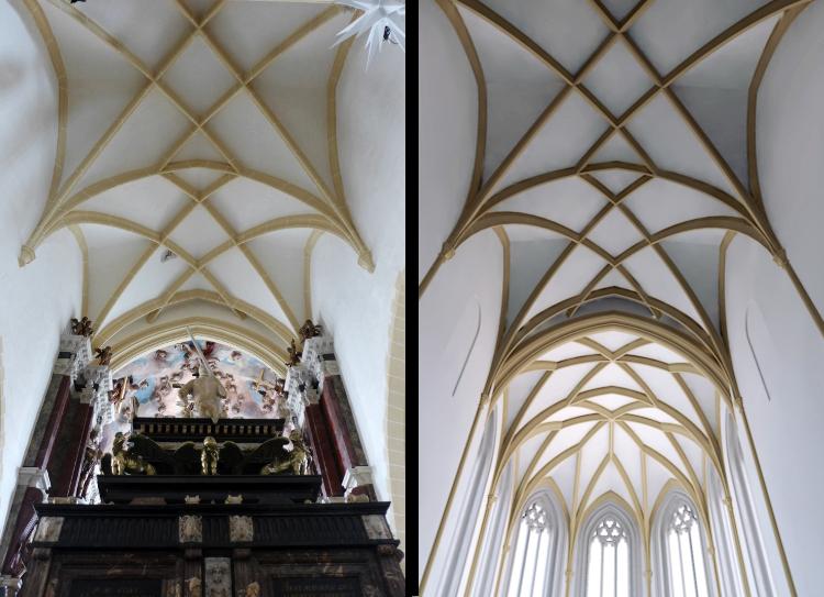 Gewölbe Rekonstruktion Blick in den Ostchor