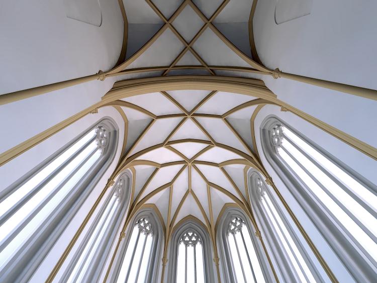 Gewölbe Rekonstruktion Zusammenhang zwischen Vorchor und Ostchor