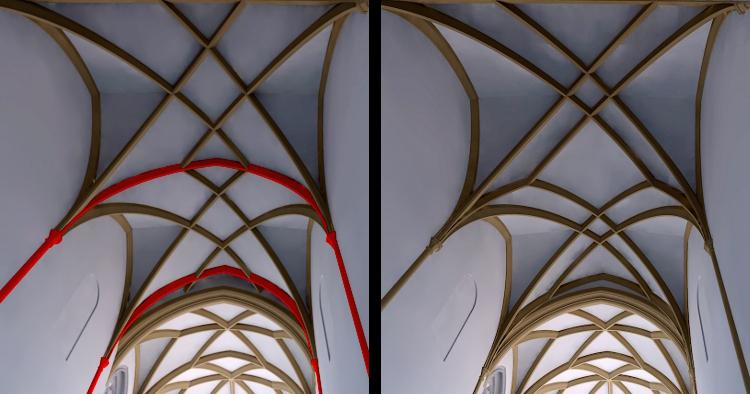 Gewölbe Vorchor Rekonstruktion und Alternative nach Prager Vorbild
